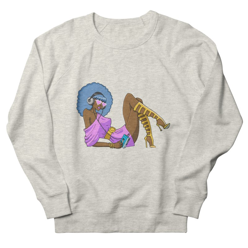 Funky Retro Girl Women's French Terry Sweatshirt by anishacreations's Artist Shop
