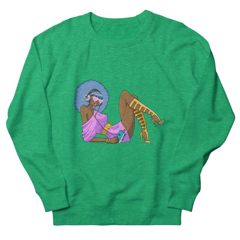 Funky Retro Girl Men's French Terry Sweatshirt by anishacreations's Artist Shop