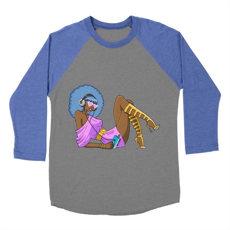 Funky Retro Girl Women's Baseball Triblend T-Shirt by anishacreations's Artist Shop