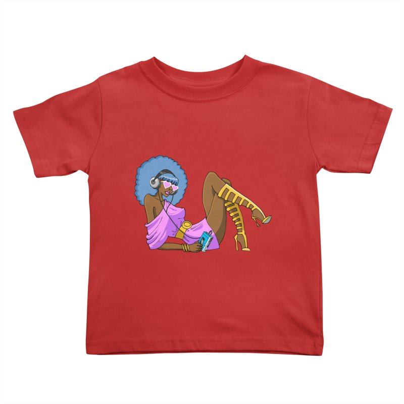 Funky Retro Girl Kids Toddler T-Shirt by anishacreations's Artist Shop