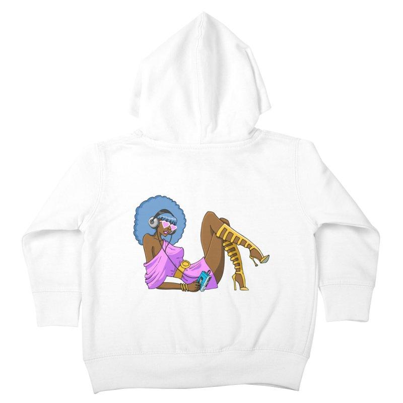 Funky Retro Girl Kids Toddler Zip-Up Hoody by anishacreations's Artist Shop