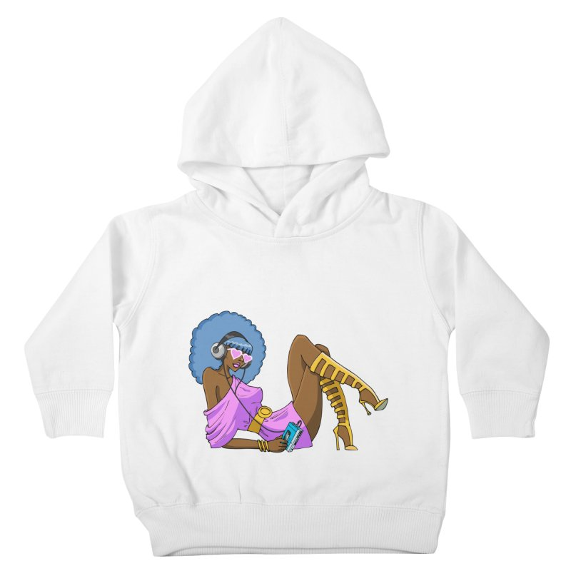 Funky Retro Girl Kids Toddler Pullover Hoody by anishacreations's Artist Shop