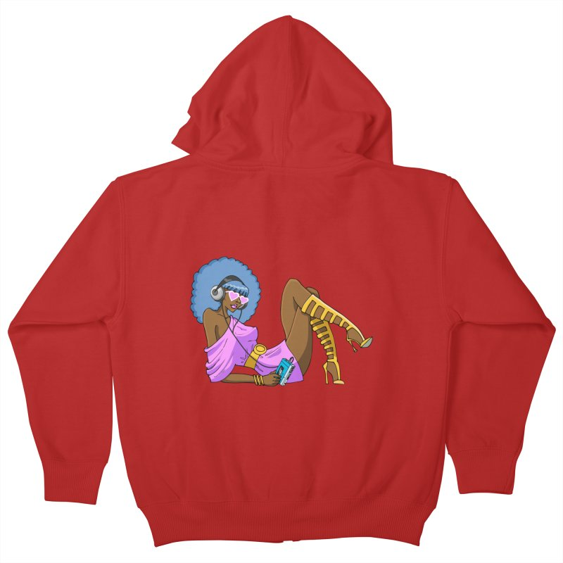 Funky Retro Girl Kids Zip-Up Hoody by anishacreations's Artist Shop