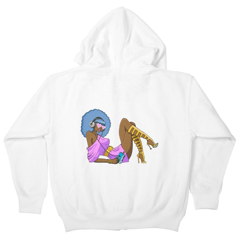 Funky Retro Girl Kids Zip-Up Hoody by anishacreations's Artist Shop