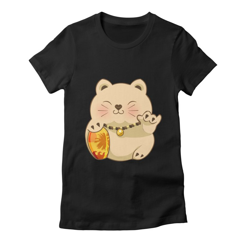 Lucky Shaka Women's Fitted T-Shirt by anishacreations's Artist Shop