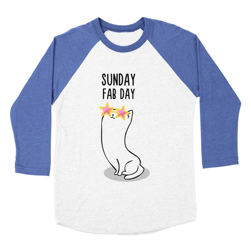 Sunday Fab Day Women's Baseball Triblend Longsleeve T-Shirt by anishacreations's Artist Shop