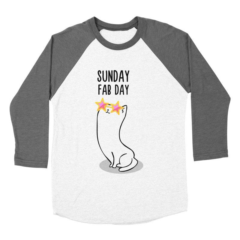 Sunday Fab Day Men's Baseball Triblend Longsleeve T-Shirt by anishacreations's Artist Shop