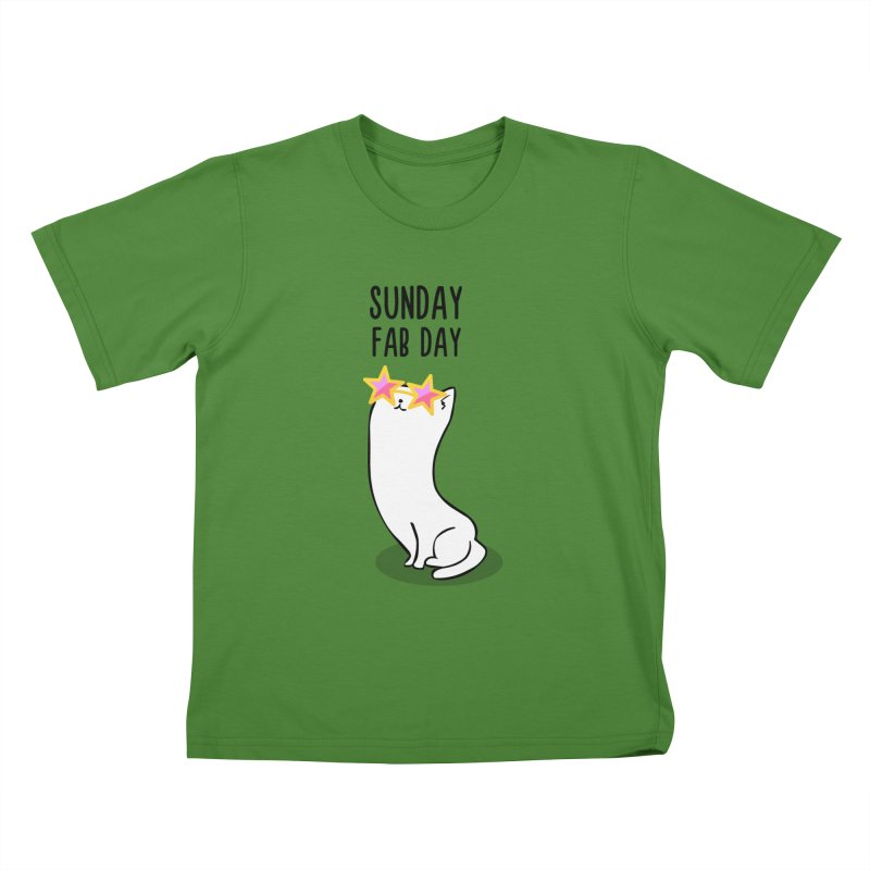 Sunday Fab Day Kids T-shirt by anishacreations's Artist Shop