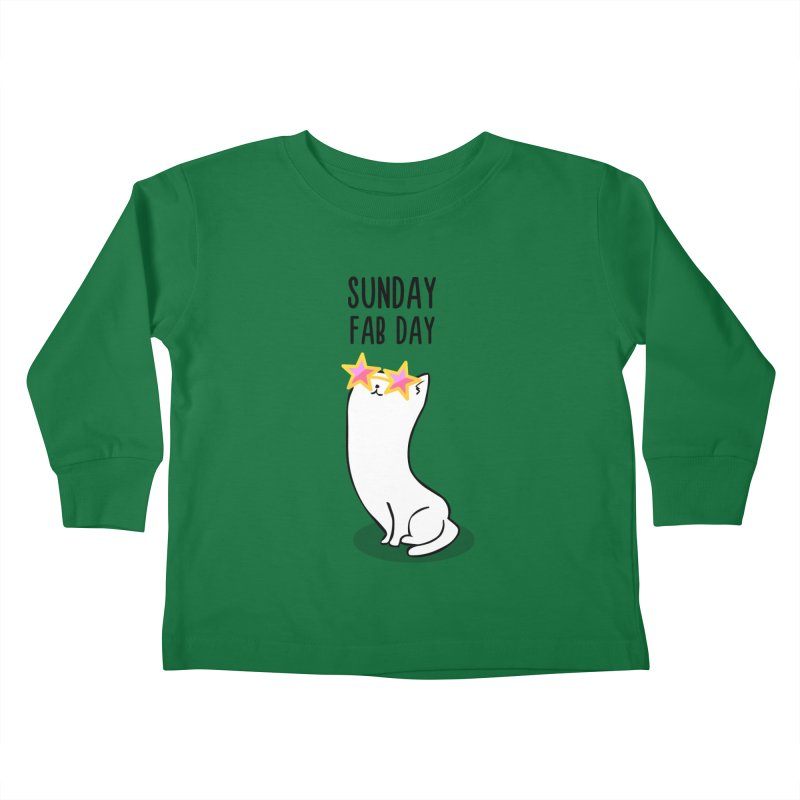 Sunday Fab Day Kids Toddler Longsleeve T-Shirt by anishacreations's Artist Shop
