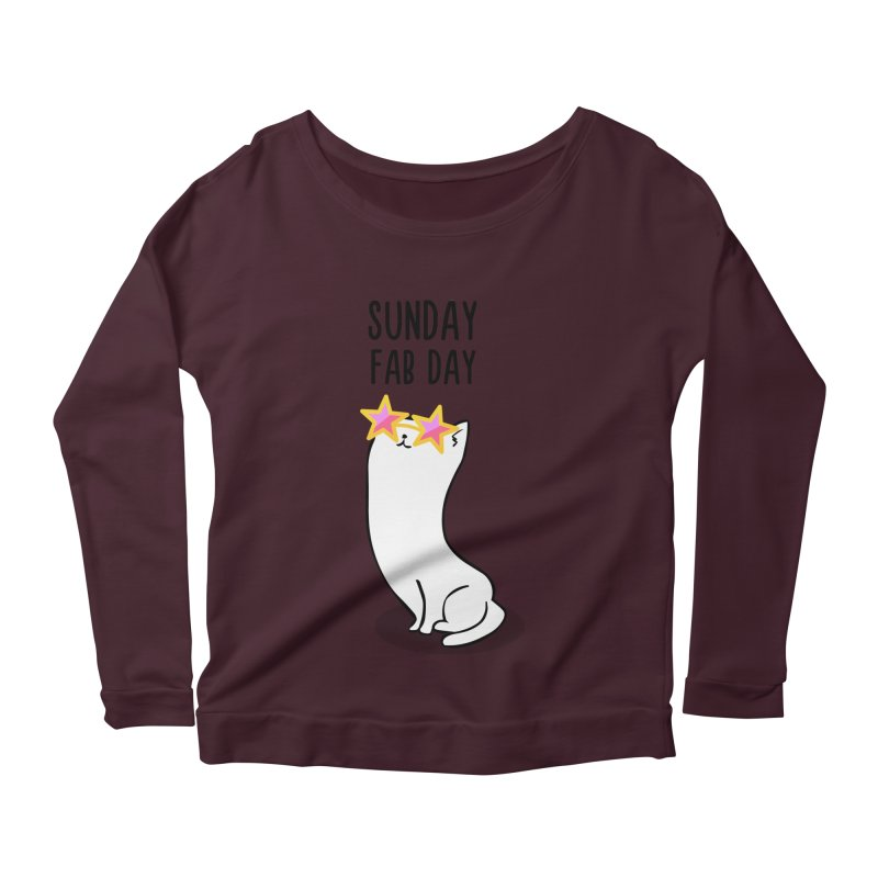 Sunday Fab Day Women's Scoop Neck Longsleeve T-Shirt by anishacreations's Artist Shop
