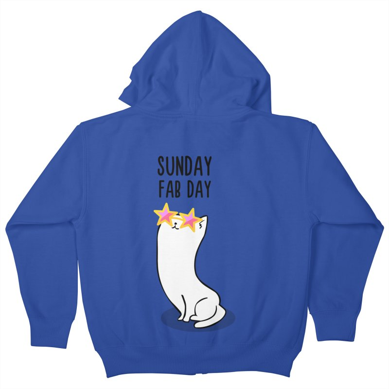 Sunday Fab Day Kids Zip-Up Hoody by anishacreations's Artist Shop