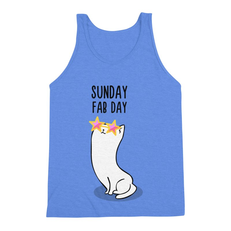 Sunday Fab Day Men's Triblend Tank by anishacreations's Artist Shop
