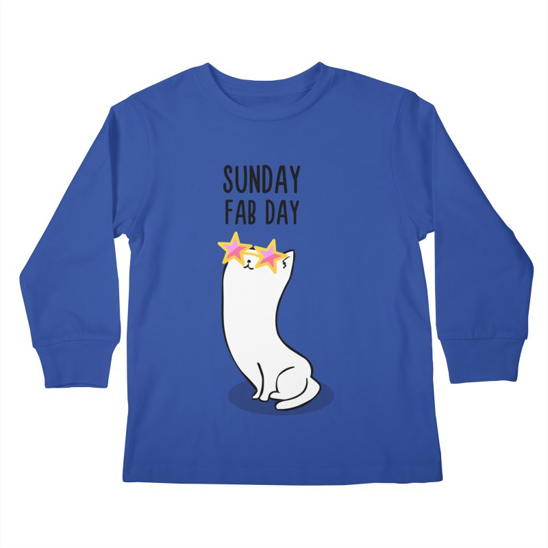 Sunday Fab Day Kids Longsleeve T-Shirt by anishacreations's Artist Shop