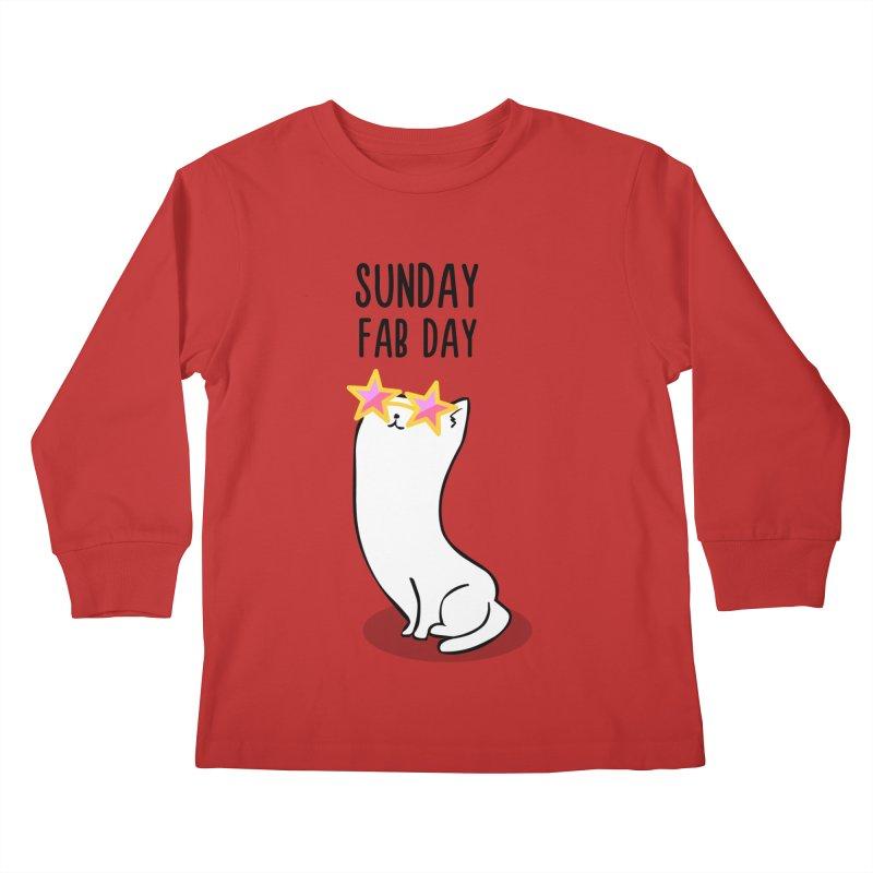 Sunday Fab Day Kids Longsleeve T-Shirt by anishacreations's Artist Shop