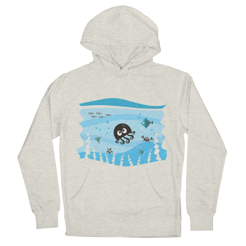 Under the sea Men's French Terry Pullover Hoody by anishacreations's Artist Shop