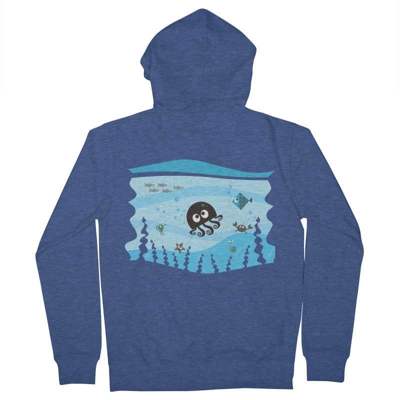 Under the sea Women's French Terry Zip-Up Hoody by anishacreations's Artist Shop