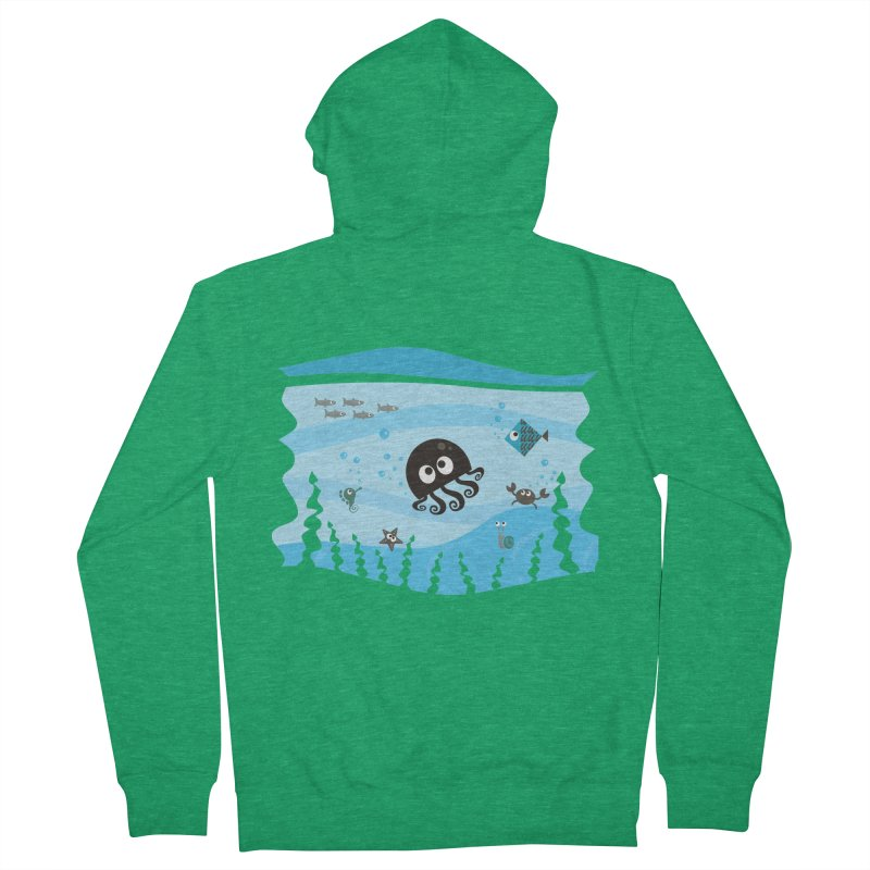 Under the sea Men's French Terry Zip-Up Hoody by anishacreations's Artist Shop