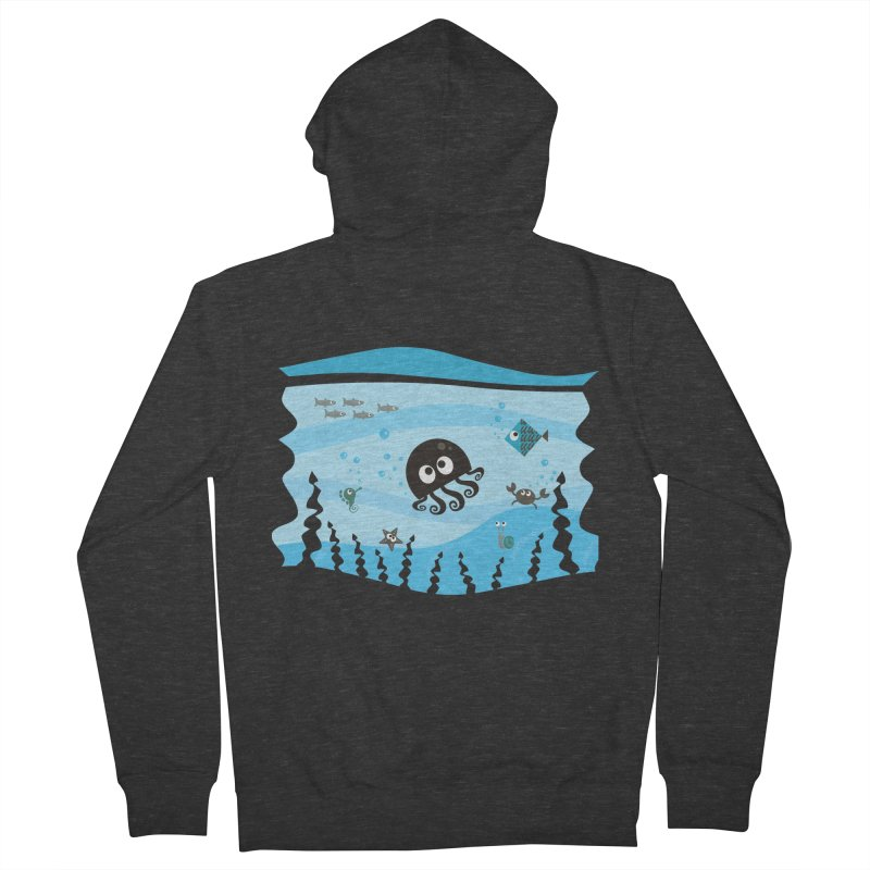 Under the sea Men's Zip-Up Hoody by anishacreations's Artist Shop