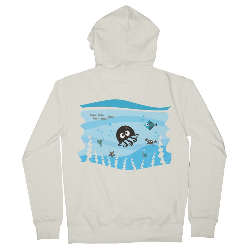 Under the sea Men's Zip-Up Hoody by anishacreations's Artist Shop