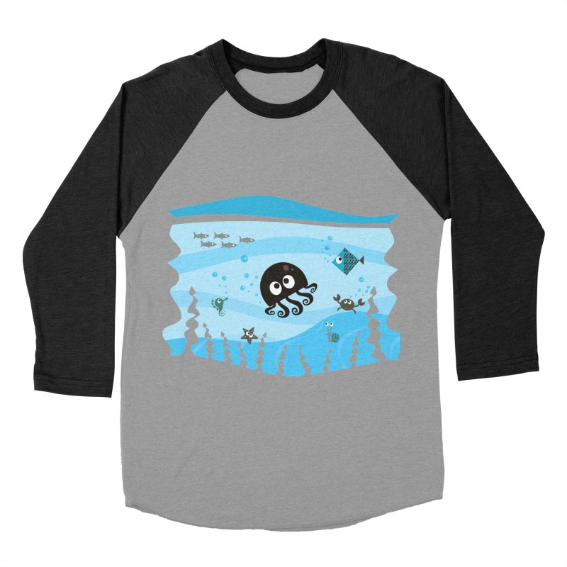 Under the sea Men's Baseball Triblend Longsleeve T-Shirt by anishacreations's Artist Shop