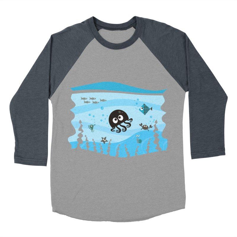 Under the sea Men's Baseball Triblend Longsleeve T-Shirt by anishacreations's Artist Shop