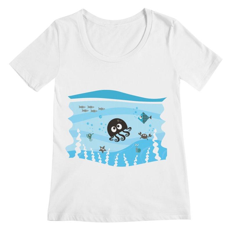 Under the sea Women's Regular Scoop Neck by anishacreations's Artist Shop