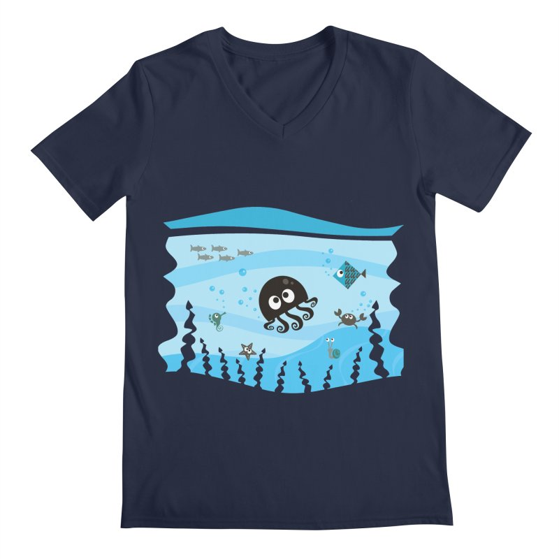 Under the sea Men's V-Neck by anishacreations's Artist Shop