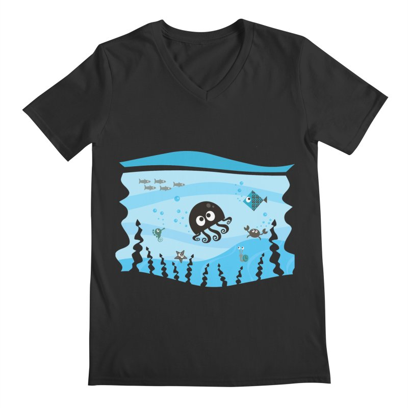 Under the sea Men's Regular V-Neck by anishacreations's Artist Shop