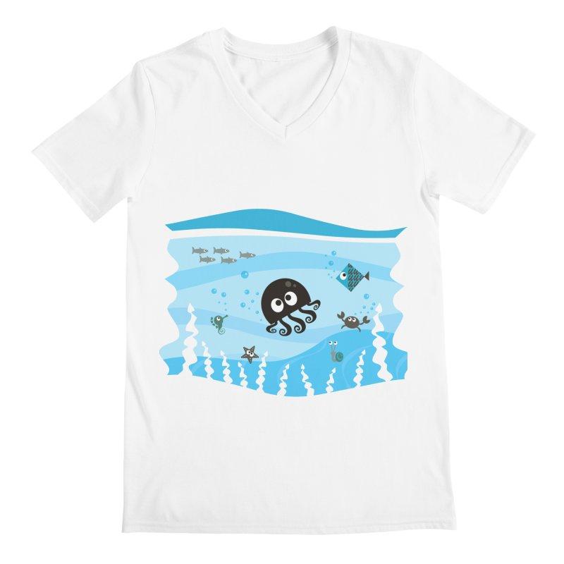 Under the sea Men's Regular V-Neck by anishacreations's Artist Shop
