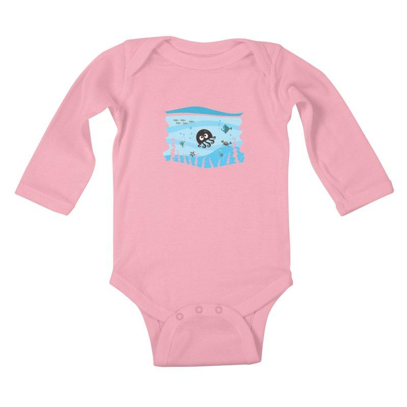 Under the sea Kids Baby Longsleeve Bodysuit by anishacreations's Artist Shop