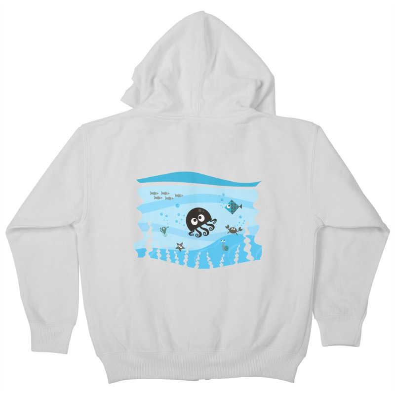 Under the sea Kids Zip-Up Hoody by anishacreations's Artist Shop