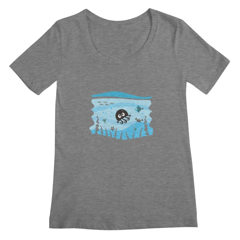 Under the sea Women's Scoopneck by anishacreations's Artist Shop