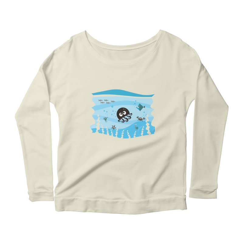 Under the sea Women's Scoop Neck Longsleeve T-Shirt by anishacreations's Artist Shop