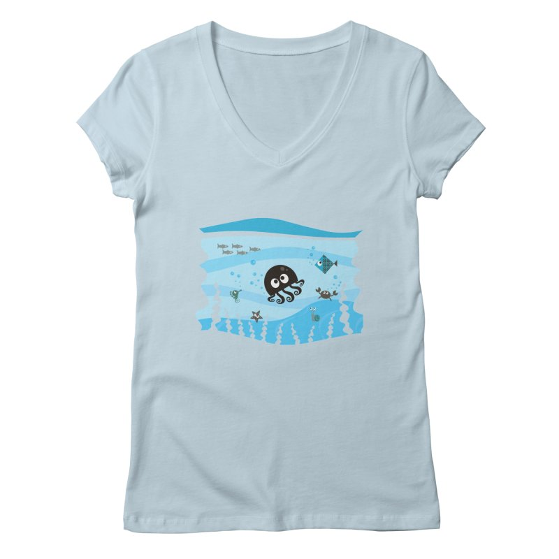 Under the sea Women's V-Neck by anishacreations's Artist Shop