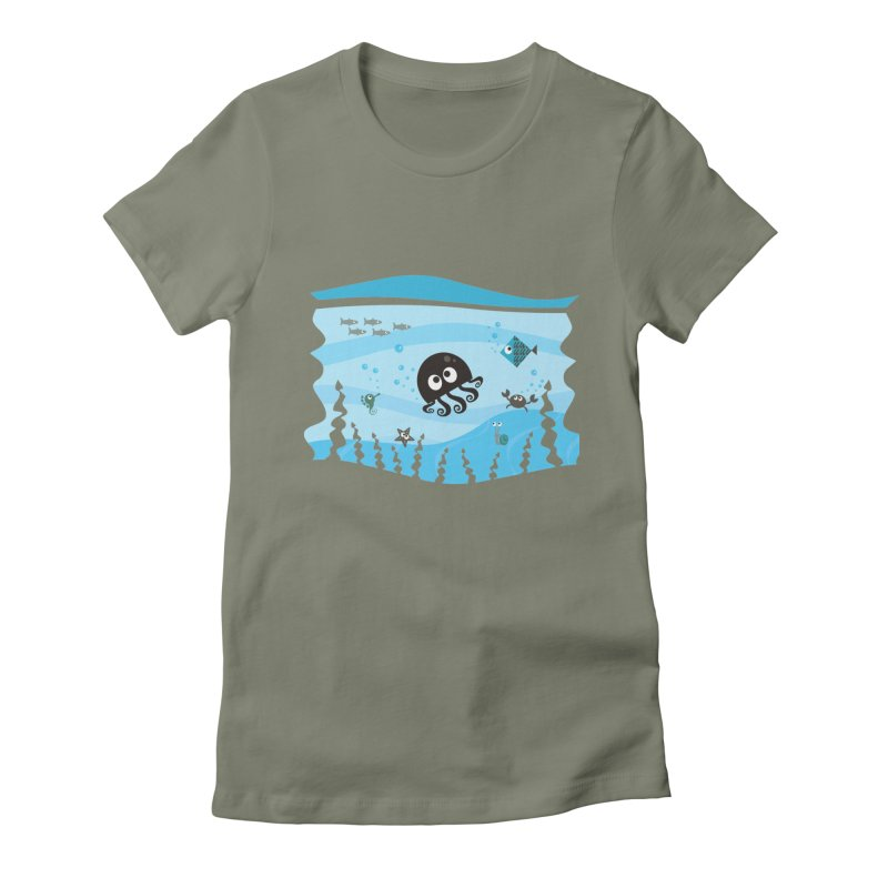 Under the sea Women's Fitted T-Shirt by anishacreations's Artist Shop
