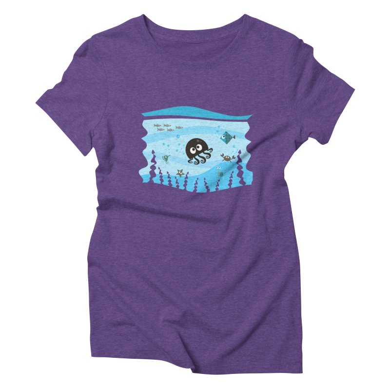 Under the sea Women's Triblend T-shirt by anishacreations's Artist Shop