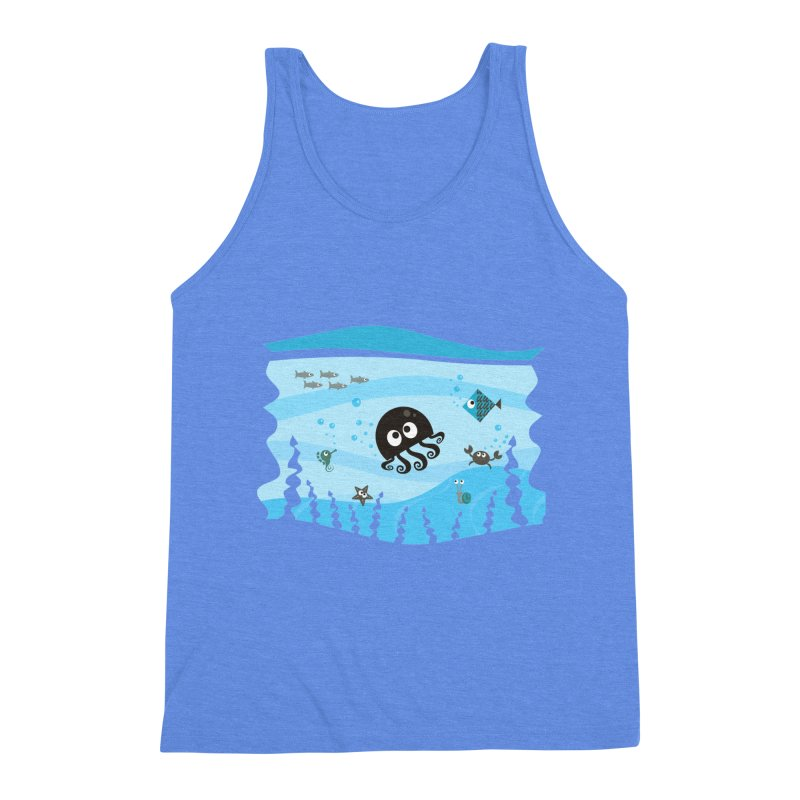 Under the sea Men's Triblend Tank by anishacreations's Artist Shop