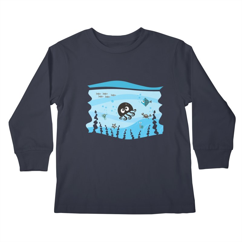 Under the sea Kids Longsleeve T-Shirt by anishacreations's Artist Shop