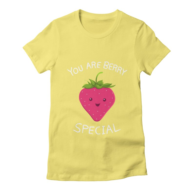 Fruity Truth Women's Fitted T-Shirt by anishacreations's Artist Shop