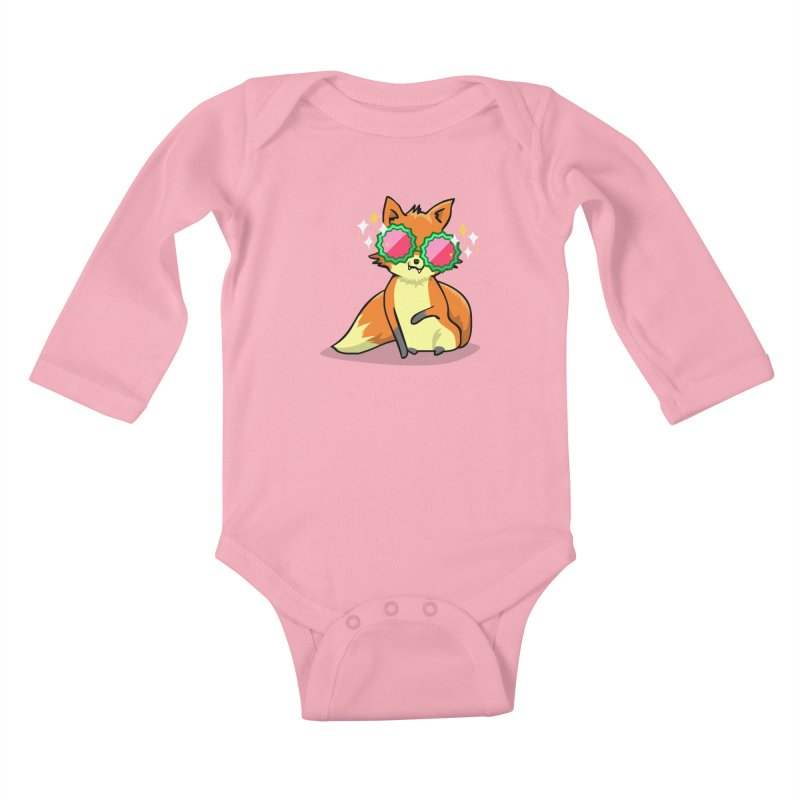 Foxy & Fabulous  Kids Baby Longsleeve Bodysuit by anishacreations's Artist Shop