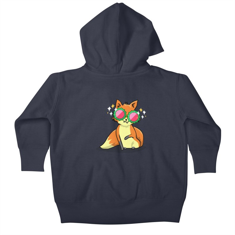 Foxy & Fabulous  Kids Baby Zip-Up Hoody by anishacreations's Artist Shop