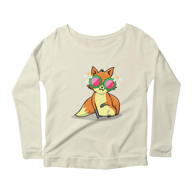 Foxy & Fabulous Women's Scoop Neck Longsleeve T-Shirt by anishacreations's Artist Shop