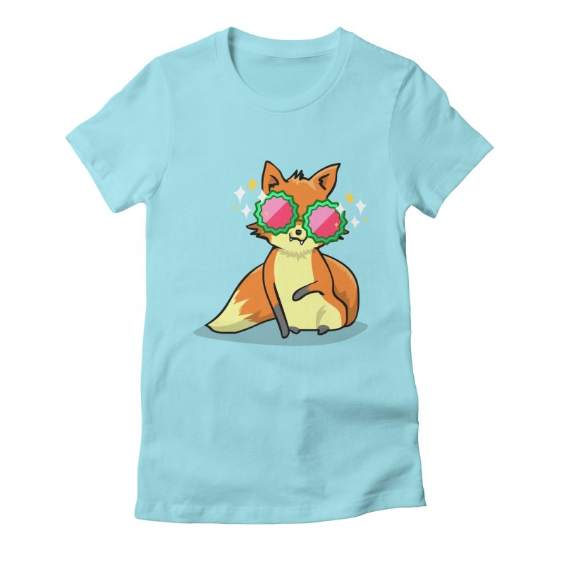 Foxy & Fabulous  Women's Fitted T-Shirt by anishacreations's Artist Shop