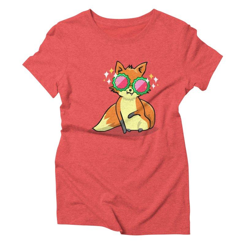 Foxy & Fabulous  Women's Triblend T-Shirt by anishacreations's Artist Shop