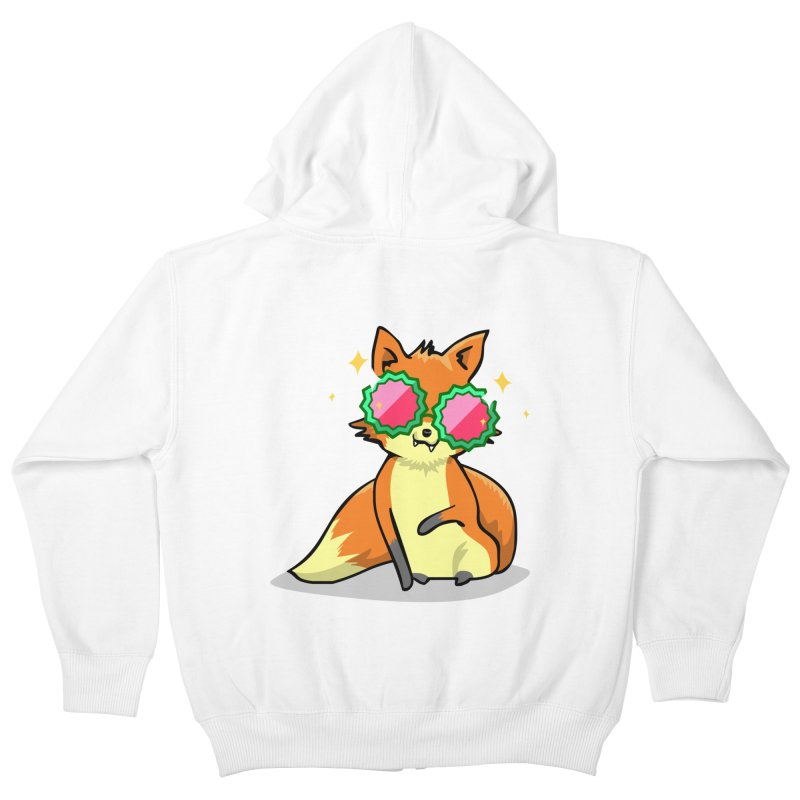 Foxy & Fabulous  Kids Zip-Up Hoody by anishacreations's Artist Shop