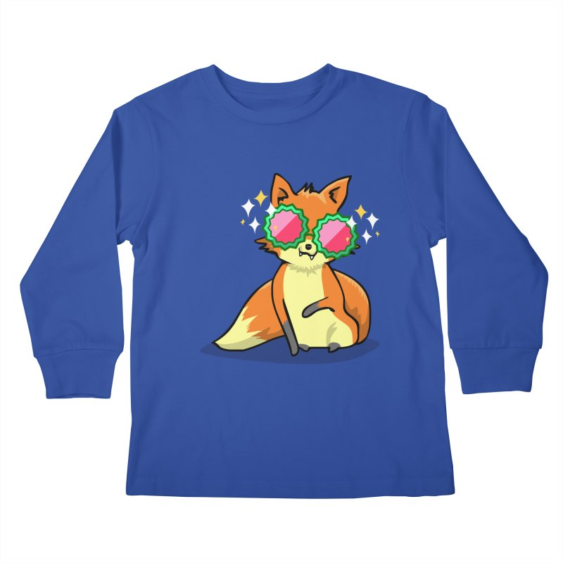 Foxy & Fabulous Kids Longsleeve T-Shirt by anishacreations's Artist Shop