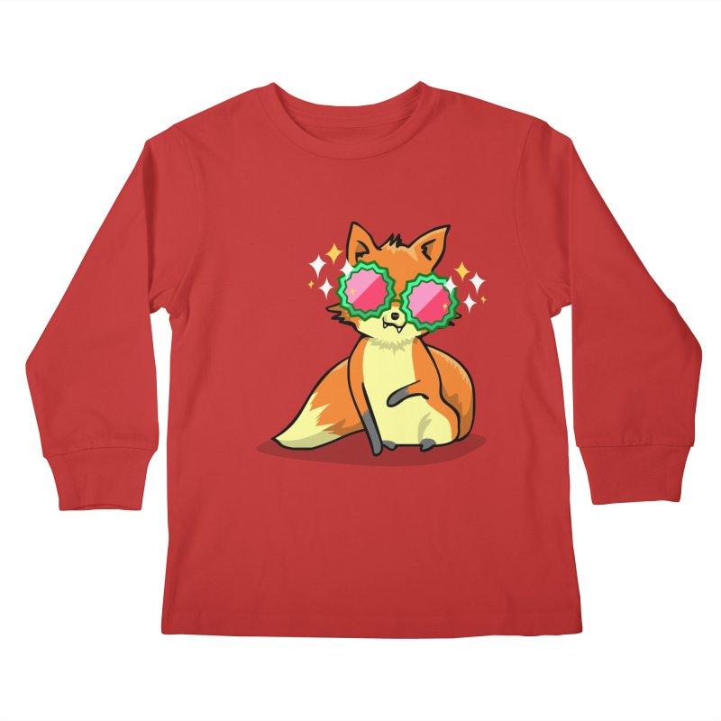 Foxy & Fabulous  Kids Longsleeve T-Shirt by anishacreations's Artist Shop