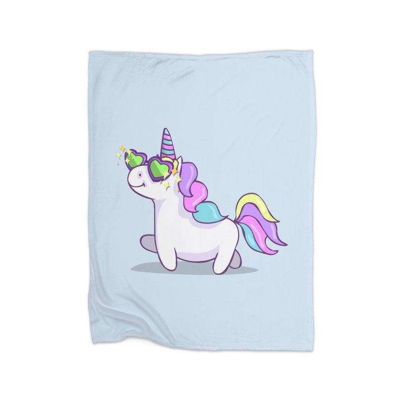 Fabulous Unicorn Home Fleece Blanket Blanket by anishacreations's Artist Shop