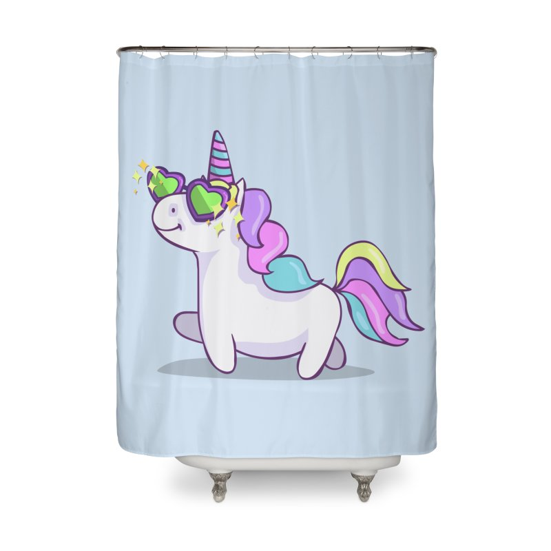Fabulous Unicorn Home Shower Curtain by anishacreations's Artist Shop
