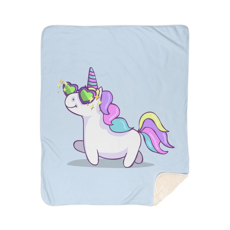 Fabulous Unicorn Home Sherpa Blanket Blanket by anishacreations's Artist Shop